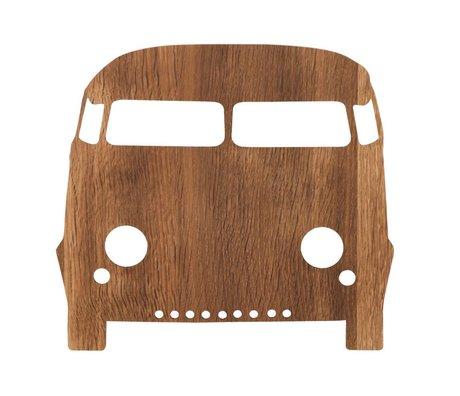 Ferm Living Lampada da parete automobile legno marrone 27x22,5cm