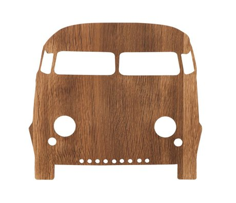 Ferm Living Wall lamp automobile brown wood 27x22,5cm