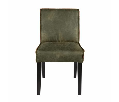 BePureHome Dining chair Rodeo green leather 83x45x61cm