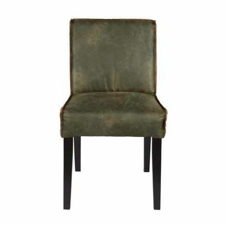 BePureHome silla de comedor 83x45x61cm Rodeo de cuero verde