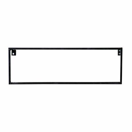 LEF collections Estantería de pared de metal negro Meert 16x50x8cm