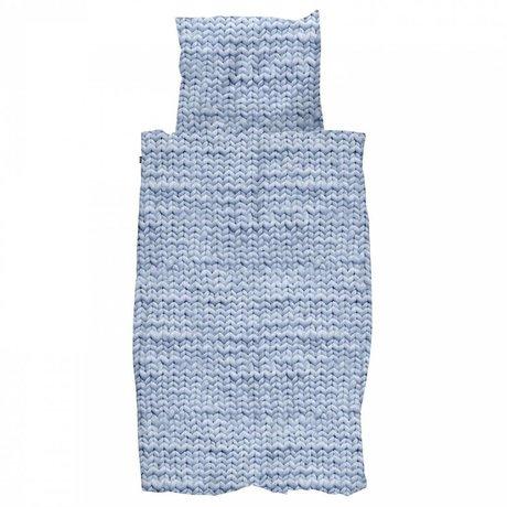 Duvet Twirre blau Flanell Baumwolle in 200x200 / 220cm