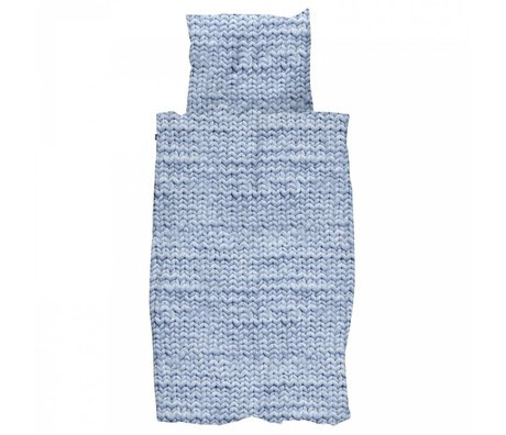 Duvet Twirre blau Flanell Baumwolle 260x200 / 220cm