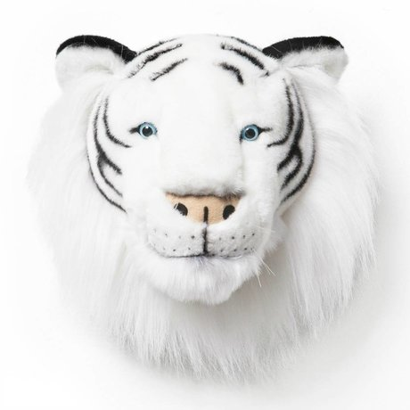 Wild and Soft Animal tiger Albert monochrome textile 25x30x30cm