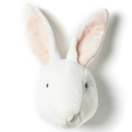 Wild and Soft Animal rabbit Alice white textile 30x25x45cm