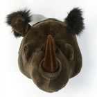 Wild and Soft Animal rhinocéros noir Michael textile 35x34x30cm