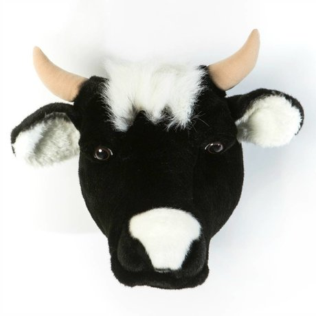 Wild and Soft vache animal Daisy textile noir 33x40x30cm