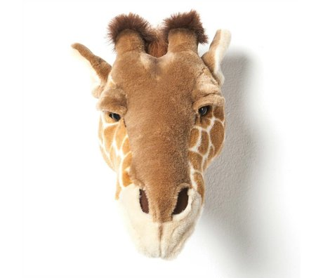 Wild and Soft Animal giraffe Ruby brown textile 34x19x28cm