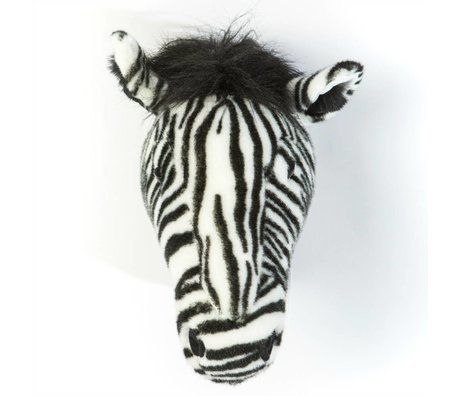 Wild and Soft Animal zebra Daniel monochrome textile 34x19x30cm
