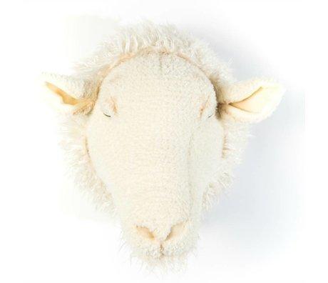 Wild and Soft mouton animal Harry blanc textile 29x25x28cm