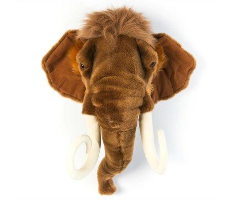 Wild and Soft mammouth animal Arthur Braun 24x50x56cm textile