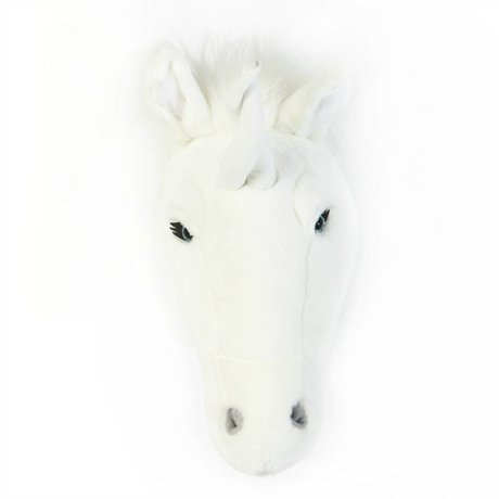 Wild and Soft Animal white unicorn Claire textile 37x18x35cm