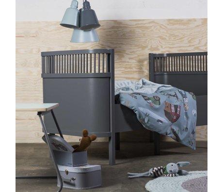 Sebra Crib dark gray wood 112,5x70x88cm