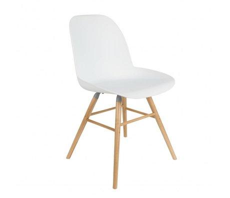Zuiver Esszimmerstuhl Albert Kuip weißen Kunststoff-Holz 51x49x60cm
