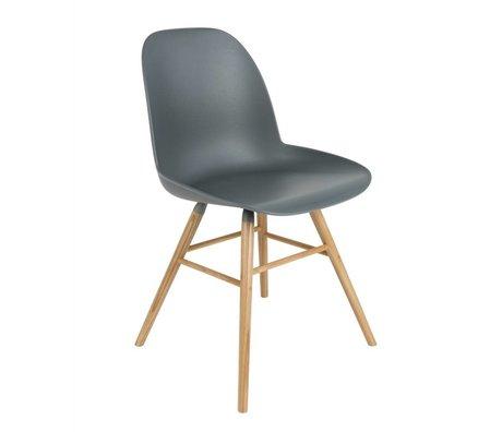 Zuiver Salle à manger Chaise Albert Kuip bois plastique 51x49x60cm gris foncé