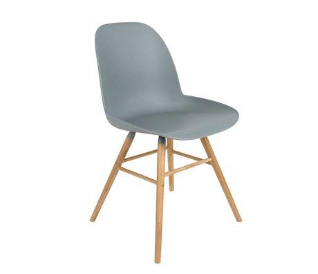 Zuiver Dining chair Albert Kuip plastic wood light gray 51x49x60cm