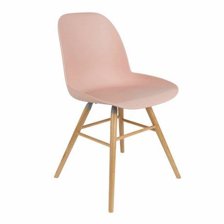 Zuiver Salle à manger Chaise Albert Kuip plastique rose bois 51x49x60cm