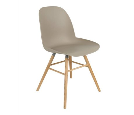 Zuiver Dining chair Albert Kuip plastic wood brown 51x49x60cm