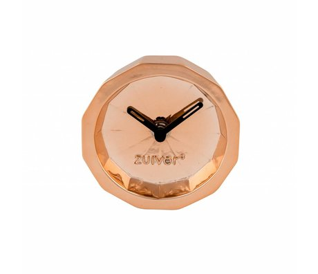 Zuiver Timer Bink copper, metal copper with black hands 15x15x8,5cm
