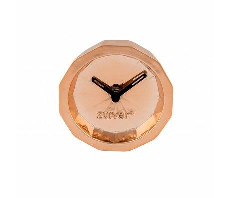 Zuiver Zeitschaltuhr Bink Kupfer, Metall Kupfer mit schwarzen Händen 15x15x8,5cm