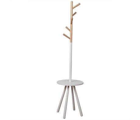 Zuiver Coat Rack Rack bord træ hvid træ hvid 169xØ40cm