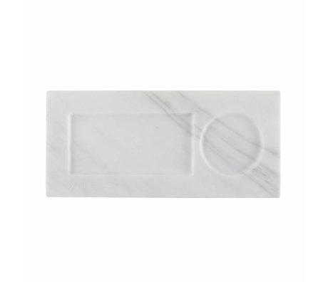 Zuiver Tray Marmor weiß, Marmor weiß 22x10x1,5cm