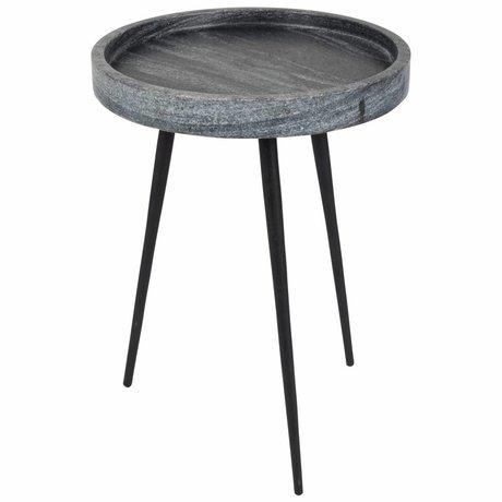 Zuiver Beistelltisch Karrara grau, grau Marmor Ø33x45cm