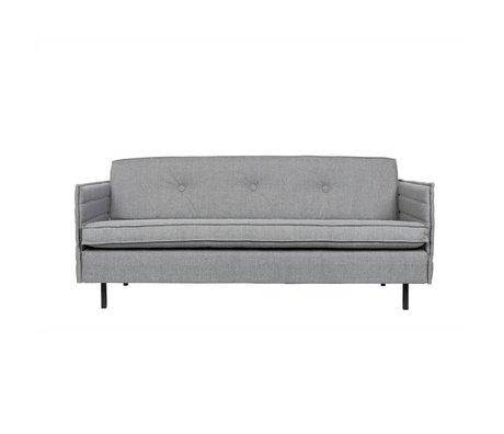 Zuiver Bank Jaey siège 2.5 textile gris clair 181x90x76cm métallique