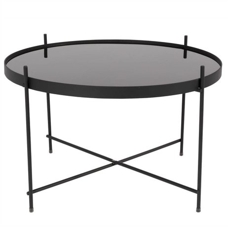 Zuiver Occasional table Cupid large black metal black Ø62,5 × 40cm