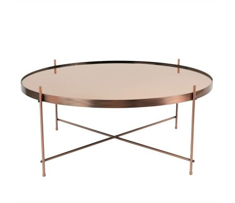 Zuiver Occasional table Cupid XXL copper, metal copper Ø82,5 × 35cm