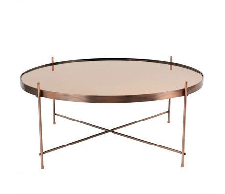 Zuiver Table d'appoint Cupid XXL cuivre, métal Ø82,5 × 35cm