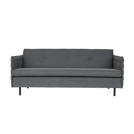 Zuiver Bank Jaey 2,5-Sitzstoff aus dunklem Metall 181x90x76cm