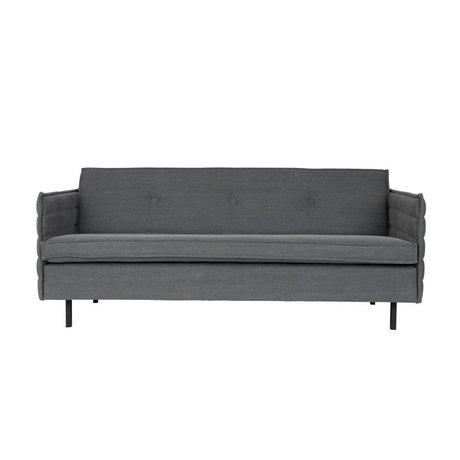 Zuiver Banque Jaey tissu du siège 2,5-in dark 181x90x76cm métallique