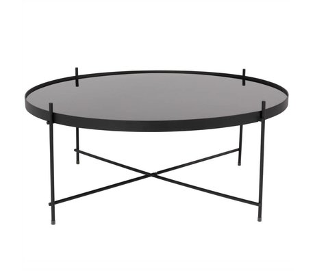 Zuiver Table d'appoint Cupid XXL noir, métallique Ø82,5 noir × 35cm