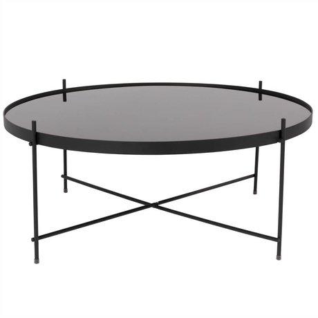 Zuiver Occasional table Cupid XXL black, metallic black Ø82,5 × 35cm