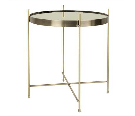 Zuiver Table d'appoint or Cupidon, Ø43x45cm d'or métallique