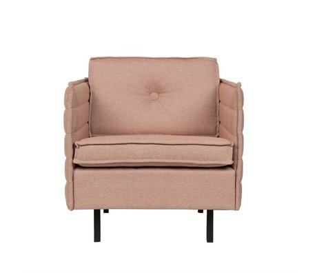 Zuiver Fauteuil Jaey textile rose 72x90x76cm métallique