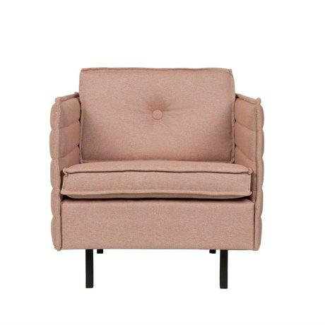 Zuiver Armchair Jaey pink textile metal 72x90x76cm