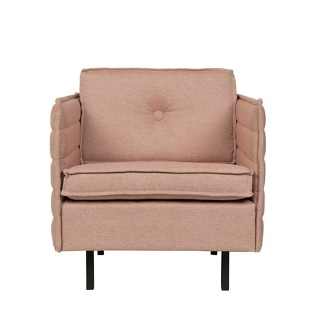 Zuiver Sessel Jaey rosa Textil-Metall 72x90x76cm
