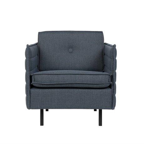 Zuiver Sessel Jaey blau grau Textil-Metall 72x90x76cm