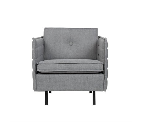 Zuiver Sessel Jaey hellgrau Textil-Metall 72x90x76cm