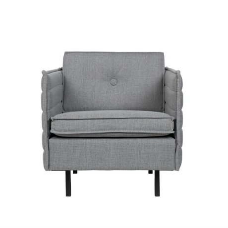 Zuiver Armchair Jaey light gray textile metal 72x90x76cm