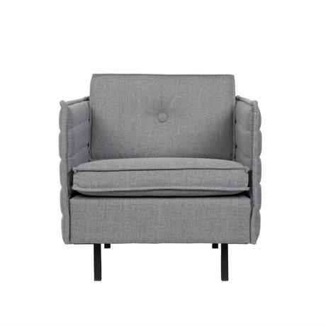 Zuiver Fauteuil Jaey lumière textile gris 72x90x76cm métallique