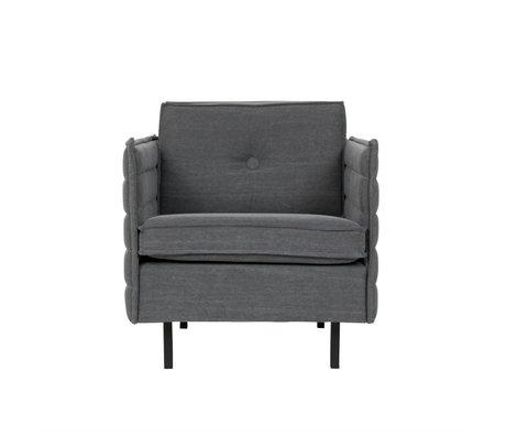 Zuiver Sessel Jaey dunklen Textil-Metall 72x90x76cm