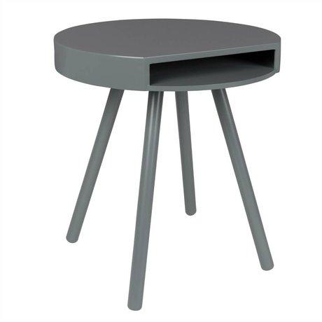Zuiver Beistelltisch Verstecken grau, grau Holz Ø46x50cm
