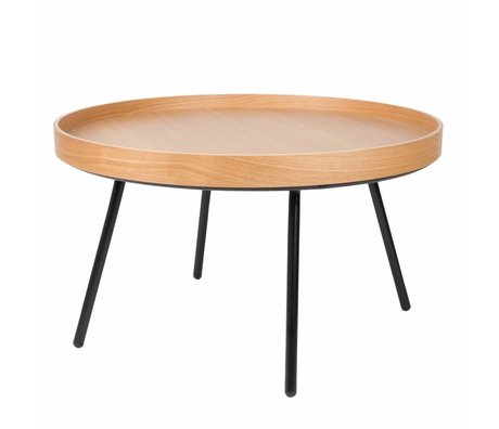 Zuiver Couchtisch Eiche Tablett, Holz Ø78x45cm