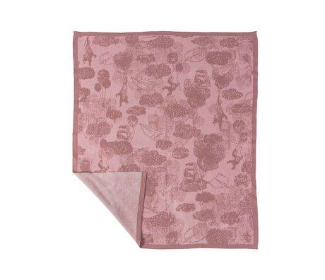 Sebra Decke in den Himmel rosa Baumwolle 100x85cm