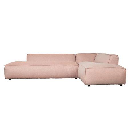 Zuiver Banco Fat Freddy 3 plazas larga bastante rosado de plástico 308x103 / 88x72cm