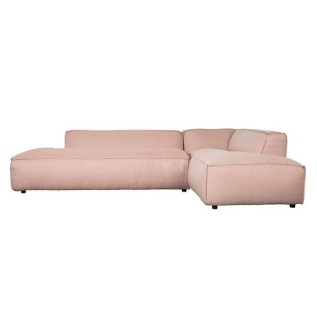 Zuiver Bank Fat Freddy 3 places long Jolie plastique rose 308x103 / 88x72cm
