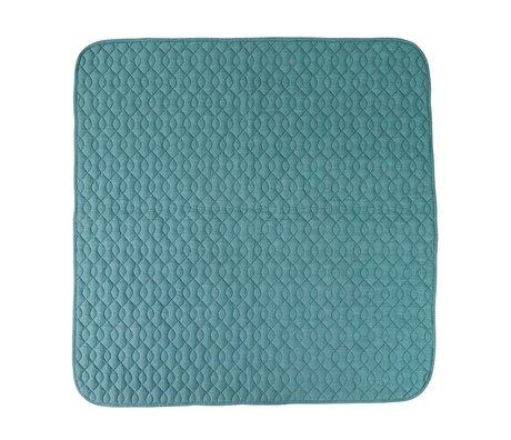 Sebra algodón manta azul 120x120cm